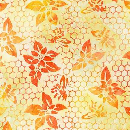Kaufman Artisan Batiks Summer Zest 19536 152 Creamsicle Honeycomb By The Yard