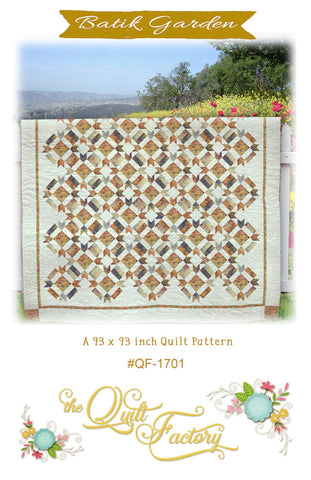 BATIK GARDEN - Quilt Pattern QF-1701 By The Quilt Factory