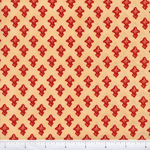 Blank Quilting Marrakesh BTR5200 Cream Red Shapes By The Yard