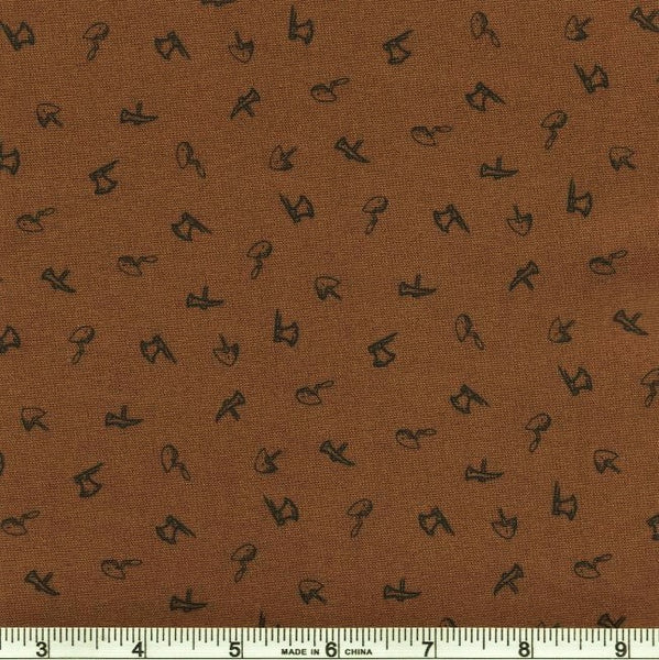 Riley Blake Lumberjack Aaron C8706 Brown Axes And Shovels By The Yard