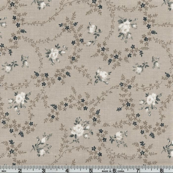 Riley Blake Serenity C8813 Taupe Rose Bouquet By The Yard