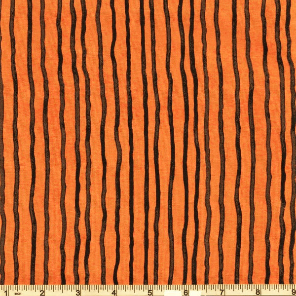 Riley Blake Goose Tales C9394 Orange Uneven Stripe By The Yard