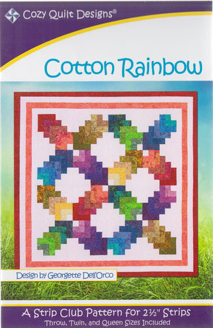 Cozy Quilt Designs Pattern -  COTTON RAINBOW
