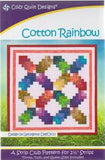 Cotton Rainbow with Moda Grunge Jelly Roll Quilt -Video Bundle - Includes Pre-cut Strips