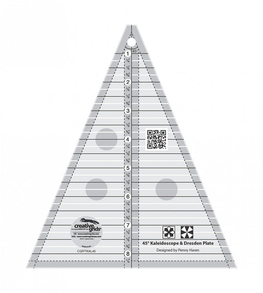 Creative Grids - 45 Degree Triangle Ruler