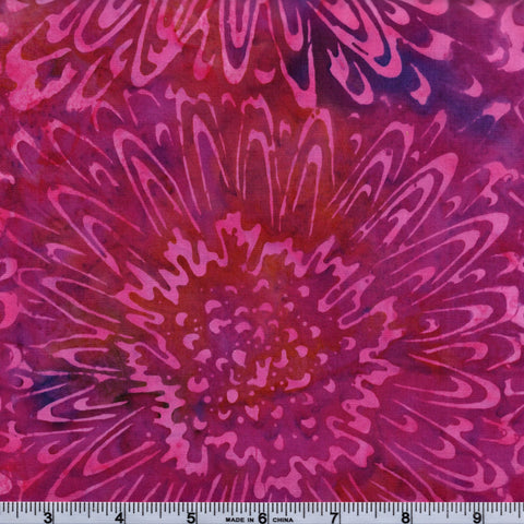 Mirah Bali Batik Cloudy Bay CY 13 1177 Nanika Large Bursting Flowers By The Yard