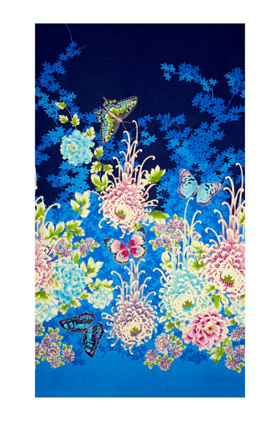 "Paintbrush Studio Metallic Flights Of Fancy 120 13431 Oriental Garden 23"" Panel By The Panel (not by the yard)"