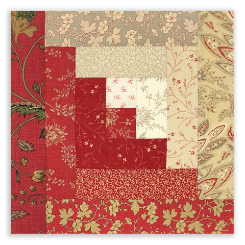 Moda Pre-Cut 12 Block Log Cabin Quilt Kit - French General 11