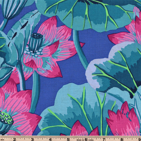 Free Spirit Kaffe Fassett GP93 Blue Lake Blossoms By The Yard