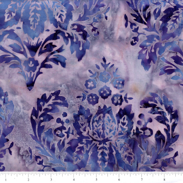 Hoffman Bali Batik 2049 81 Violet Large Stylized Floral By The Yard