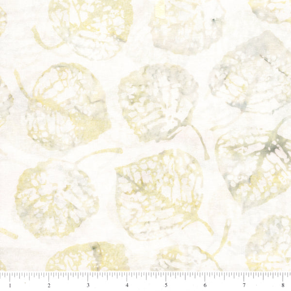 Hoffman Bali Batiks 2056 488 Sand Castle Aspen Leaves On Ivory By The Yard