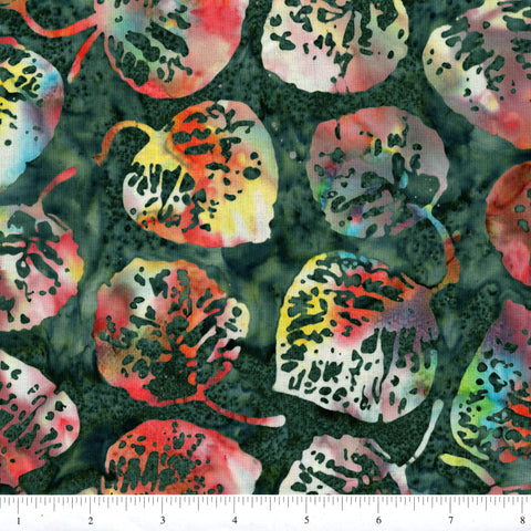 Hoffman Bali Batik 2056 538 Nirvana All Over Leaves By The Yard