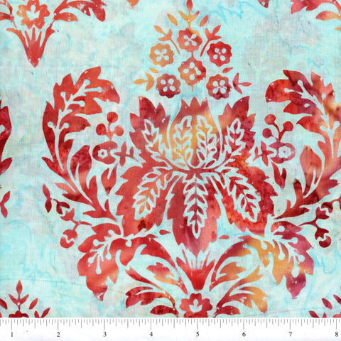 Hoffman Bali Batik 2049 340 Tara Large Stylized Floral By The Yard