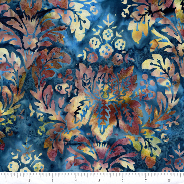 Hoffman Bali Batik 2049 317 Macaw Large Stylized Floral By The Yard