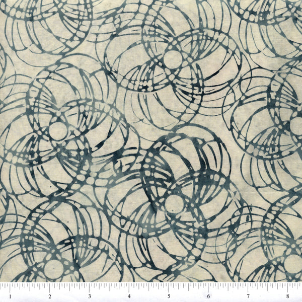 Hoffman Bali Batik GRY 9071 Lead Circles By The Yard