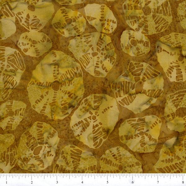 Hoffman Bali Batik 2802 291 Olivia Yellow Green Sand Dollars By The Yard