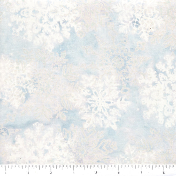 Hoffman Bali Batiks 2661 113 Frost Large Stylized Snowflakes By The Yard