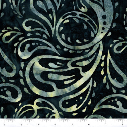 Hoffman Bali Batiks 2852 518 Splash Green Stylized Water Drops By The Yard