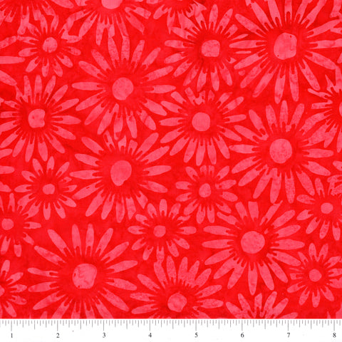 Hoffman Bali Batik 2851 67 Flame Daisies By The Yard