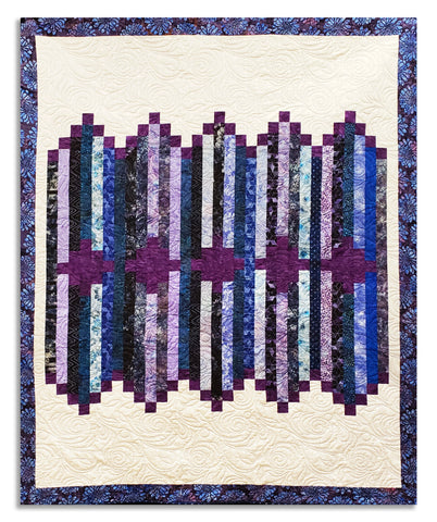 Line Dance VIDEO BUNDLE Quilt Kit - Includes Hoffman Bali Poppy Pre-cut Jelly Roll Strips