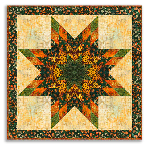 Cornucopia Batik Lone Star Wall Hanging Kit - Includes Pre-cut Strips