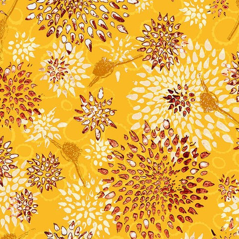 RJR Fabrics Pollinator LT301OR2 Allium Orange Slice By The Yard
