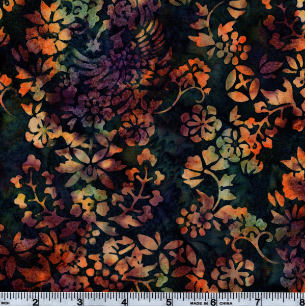 Hoffman Bali Batik MUL 4010  Summer Multi Floral By The Yard