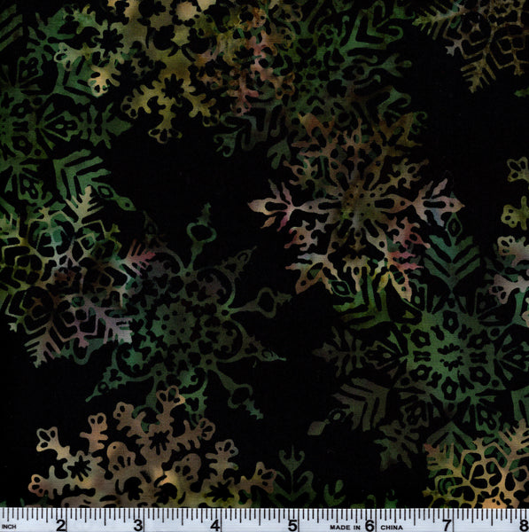 Hoffman Bali Batik MUL 4012 Rainbow Large Snowflake By The Yard