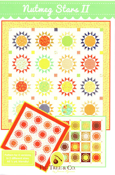 NUTMEG STARS II - Fig Tree & Co. Quilt Pattern