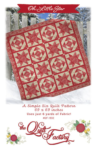 OH LITTLE STAR - The Quilt Factory Pattern QF-1832 DIGITAL DOWNLOAD