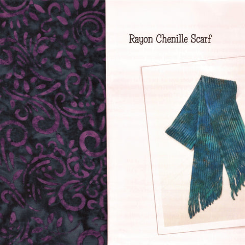 Sew Batik Pre-Cut Rayon Chenille Scarf Kit - Phoenix Purple Magic