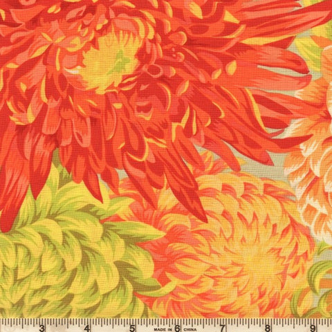 Free Spirit Kaffe Fassett Collective PJ41 Yellow Japanese Chrysanthemum By The Yard
