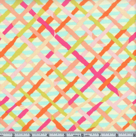 Free Spirit Kaffe Fassett Collective PWBM037 Pastel Mad Plaid By The Yard