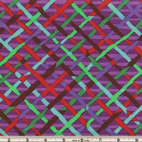 Free Spirit Kaffe Fassett Collective PWBM037 Purple Mad Plaid By The Yard