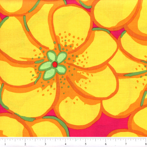Free Spirit Brandon Mably PWBM056 Yellow Elephant Flower By The Yard