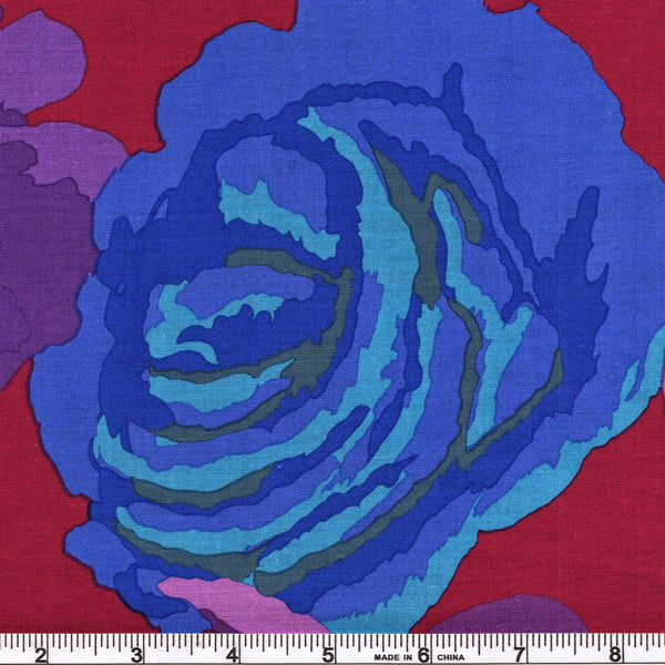 Free Spirit Kaffe Fassett Collective PWGP164 Maroon Rose Clouds By The Yard