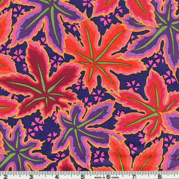 Free Spirit Kaffe Fassett Collective PWPJ093 RedXX Lacy Leaf By The Yard