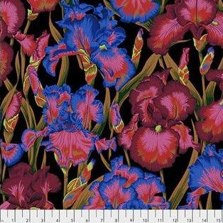 Free Spirit Kaffe Fassett Collective PWPJ105 Dark Bearded Iris By The Yard