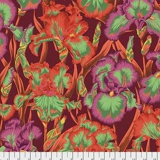 Free Spirit Kaffe Fassett Collective PWPJ105 Red Bearded Iris By The Yard