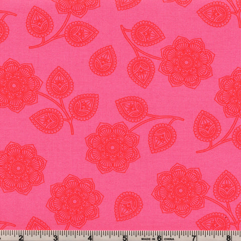 Free Spirit Eden PWTP074 Cerise Henna Floral By The Yard