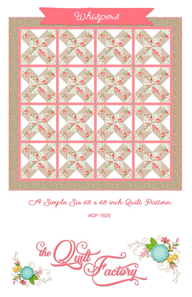 WHISPERS - Quilt Pattern QF-1925 By The Quilt Factory