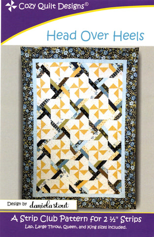 Cozy Quilt Design Pattern - HEAD OVER HEELS