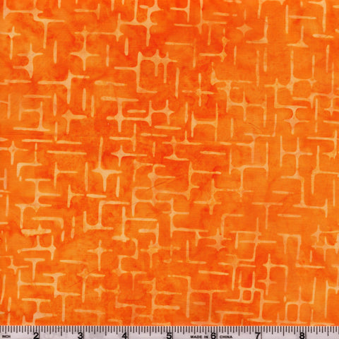Anthology Batik 16745 Abstract Orange Peel Lines By The Yard