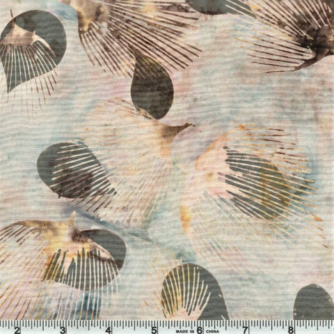 Hoffman Bali Batik 2243 302 Stone Fan Leaf By The Yard