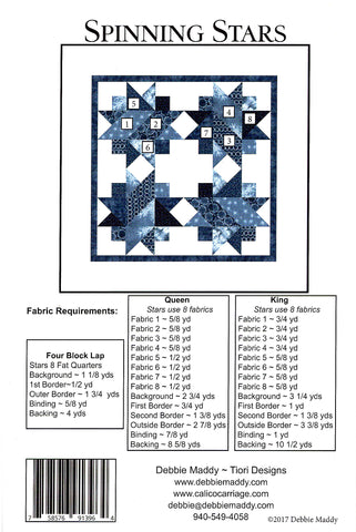 SPINNING STARS - Calico Carriage Quilt Designs Pattern CCQD168