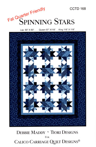 Calico Carriage Quilt Designs Pattern - SPINNING STARS