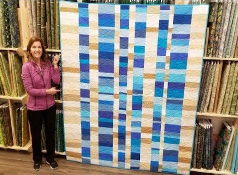 "Stacks 73 x 81"" Fully Finished Sample Quilt"