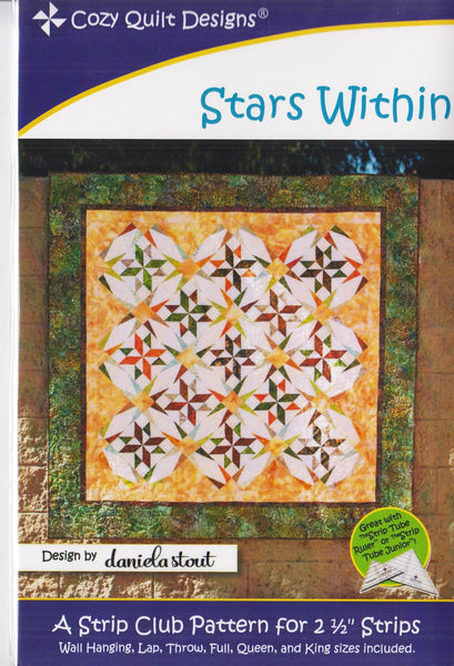 Cozy Quilt Designs STARS WITHIN Strip Pattern