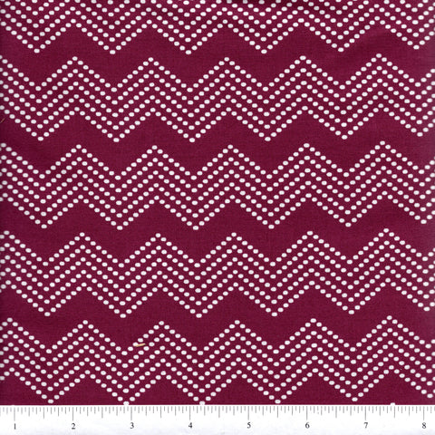 Windham Fabrics 39562 1 Burgundy Dotted Chevron Stripes By The Yard