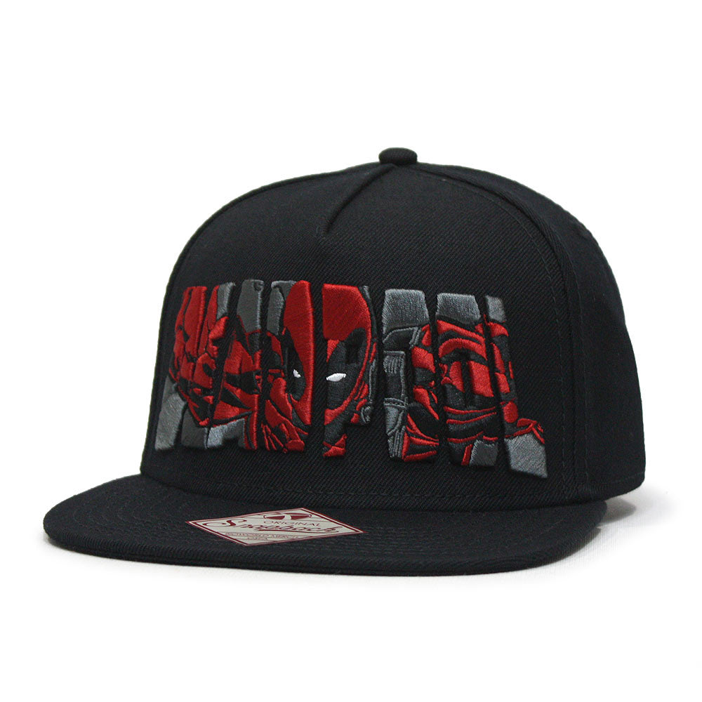 Marvel Kawaii Deadpool Embroidered Flat Brim Snapback Adjustable Baseb -  Ooh La La Factory 9bd6058c1573